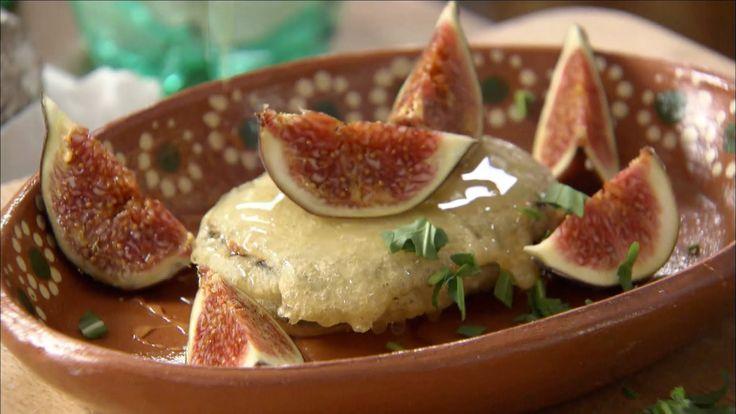 Paul Merrett's Fried Goats Cheese with Honey & Figs