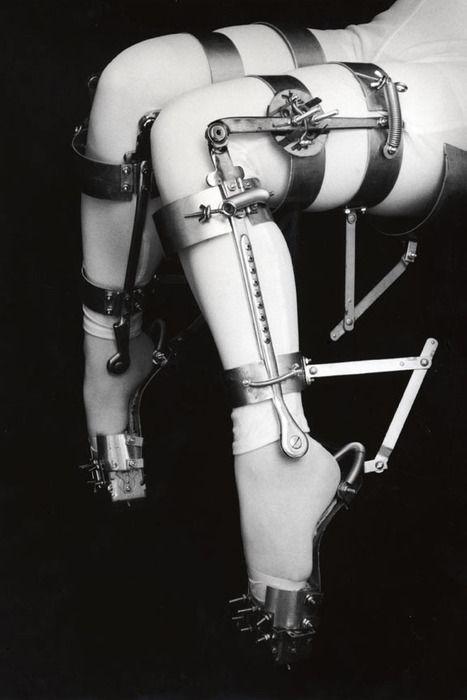 Leg fetish medical braces