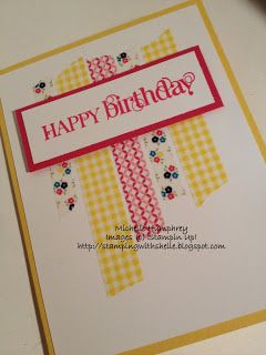 Stamping with Shelle: Washi Tape Cards -- FTL240