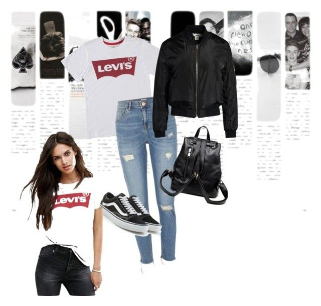 """""""Untitled #31"""" by clarisa-pop on Polyvore featuring Levi's, River Island, Vans and Sans Souci"""