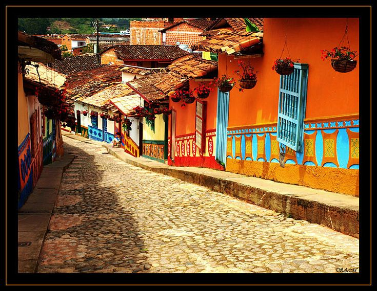 Guatape, a small town outside of Medellin in Colombia, courtesy of sacimar on TrekEarth.com