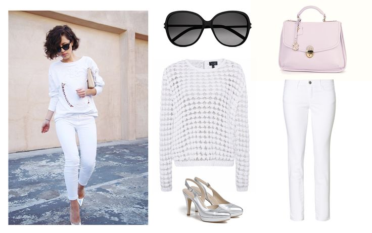 Dress to impress, with Clara-Veritas!  Shoes and Handbag - Clara-Veritas Trousers - UNITED COLORS OF BENETTON Sweater - Armani Jeans Sunglasses - Yves Saint Laurent