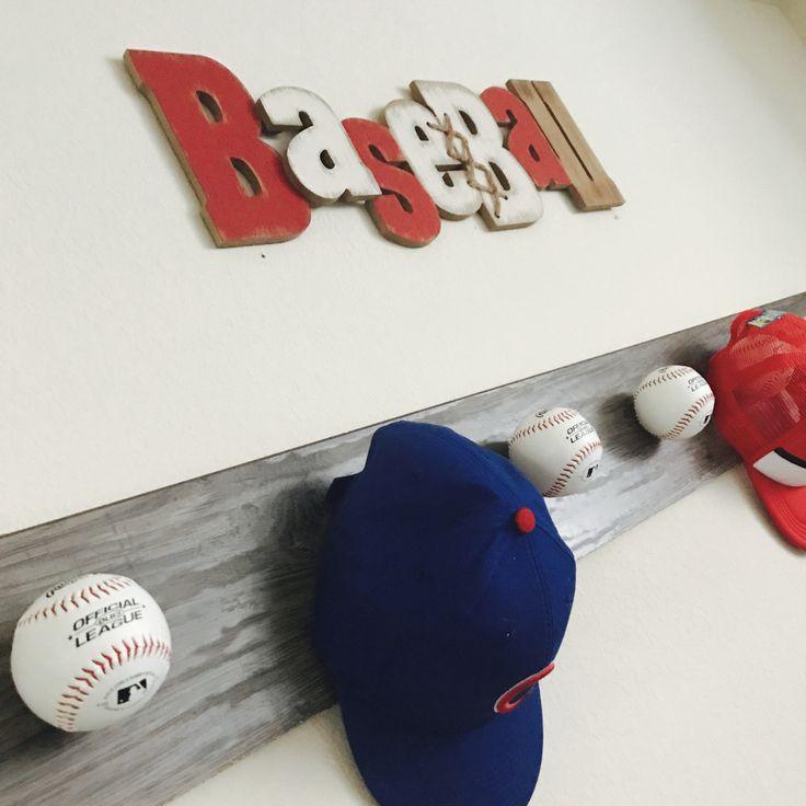 17 best ideas about baseball hat racks on pinterest for Baseball hat storage ideas