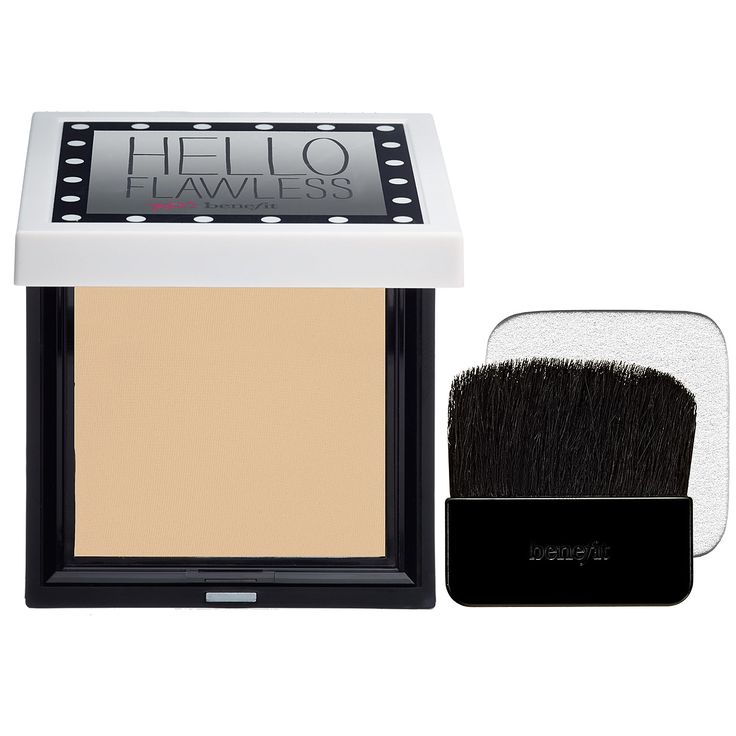 Shop Benefit Cosmetics' Hello Flawless! Powder Foundation at Sephora. It imparts a natural finish that builds from sheer-to-full coverage.