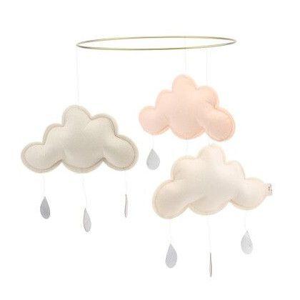 Konges Sløjd Sky Mobile Cloud Pluto Pastel White / Pastel Brown / Pastel Pink