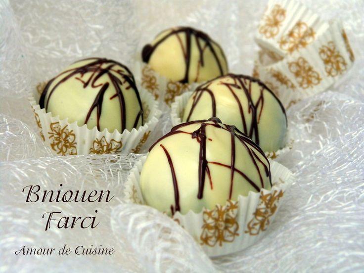 gateaux algeriens chocolat blanc | gateau algerien sans cuisson - bniouen farci - Amour de cuisine