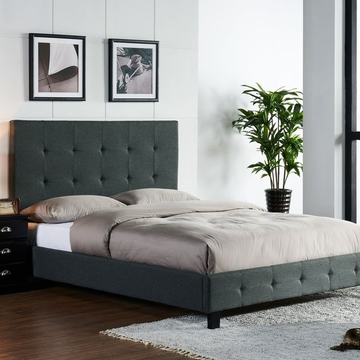 No box spring needed; this chic platform bed offers cozy comfort paired with ample room for storage. Tuck a few bags or boxes underneath to save closet space or leave it open for a light and elevated look. This stylish upholstered platform bed with the low profile design, combined with elegant woven upholstery provides a simple and yet sophisticated sleeping solution. It is constructed from tropical hardwood solids with a European-style bentwood slat support system for use with or without a…