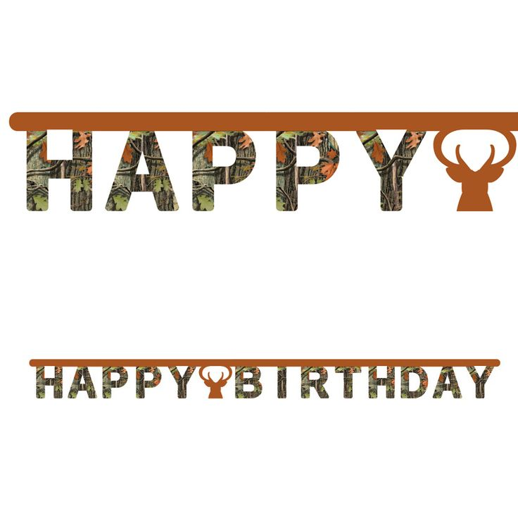 Camo Celebrations  - Hunting Camo Birthday Banner, $5.99 (http://www.camocelebrations.com/hunting-camo-birthday-banner/)