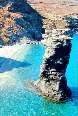 """Tis grias to pidima "" beach, Andros, Greece"