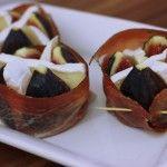 Grilované figy s hermelínom v proscuitte