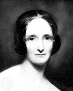 Mary Shelley 1797-1851 English writer, Shelley  had an unhappy childhood after her mother Mary Wollstonecraft died. Aged 16 she ran away to Europe with the poet Percy Bysshe. One summer they shared a house in Switzerland with othe poets and thinkers including Lord Byron. While there Mary wrote one of the most famous horror stories of al time, about a student called Frankenstein and the terrible monster that he created