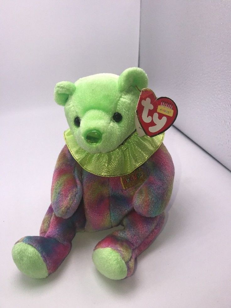 Ty Beanie Baby August Birthday Bear 2001 #TyBeanieBabies #BeanieBaby