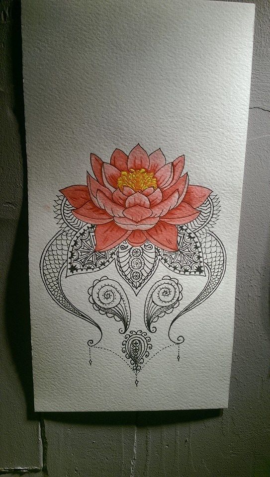 lotus mandala tattoo design set price £150 by gin 13 tattoo worthing