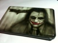 Airbrush painting on HP laptop