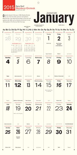 Calendar For Typography Nerds : Best ideas about calendar on pinterest