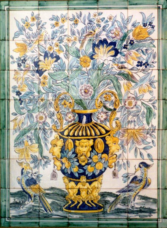 Best 25 victorian tile murals ideas on pinterest tile for Delft tile mural