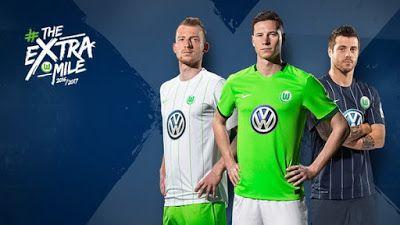 Nouveau Maillot de foot VfL Wolfsburg 2016 2017 pas cher