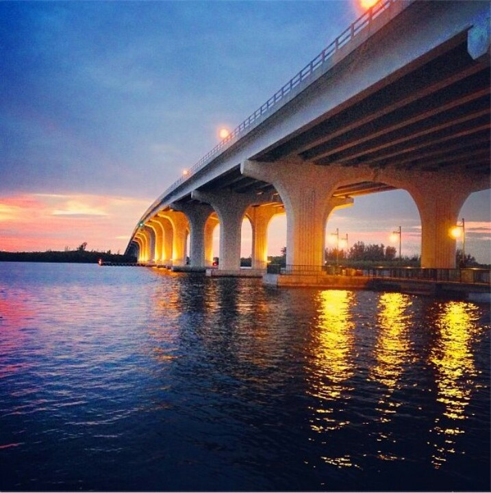 Vero Beach. I walked this bridge almost daily. How I miss those walks.....