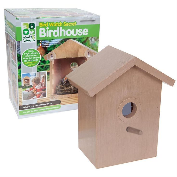 Features a clear window with a one way mirror film. Just fit this to any glass window on the outside of your house. From any window with this birdhouse. Allows you to see the birds inside and not scare them away. | eBay!