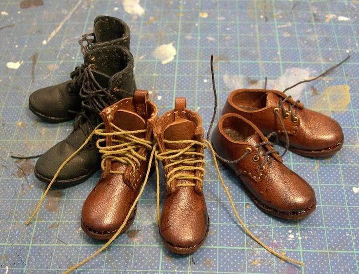 Мастер класс по изготовлению ботинок для кукол.