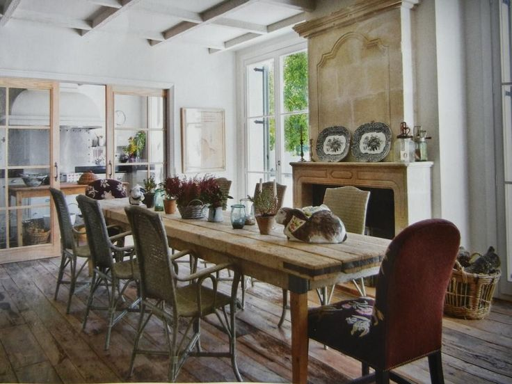 26 best images about rustic dining on pinterest for Small country dining room ideas