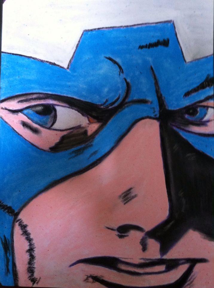 Captain America . Pastel. Mandif