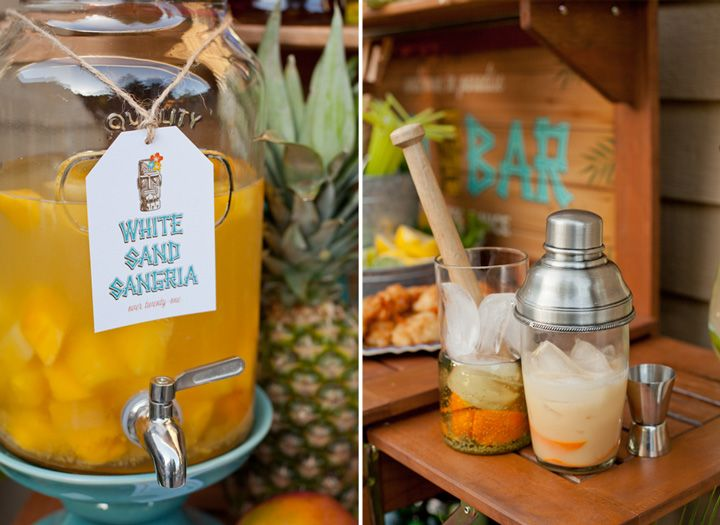 Tiki Party Signature Drinks- White Sangria #whitesangria #modernmoments #potterybarn