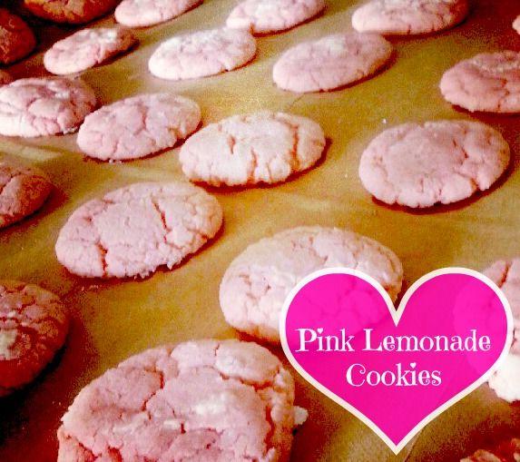 Pink Lemonade Cookies once i made pink lemonade pie sadly it did not taste good