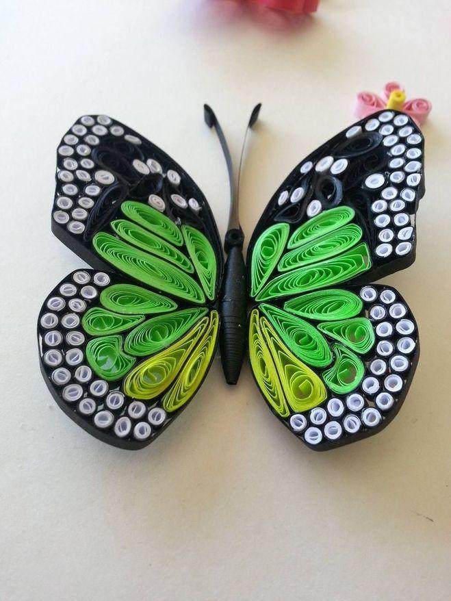 Открытки квиллинг бабочки