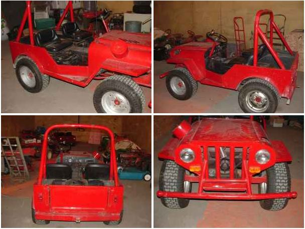 Roof Palomino Lawn Mower Roof Palomino Mini Jeep Lawn