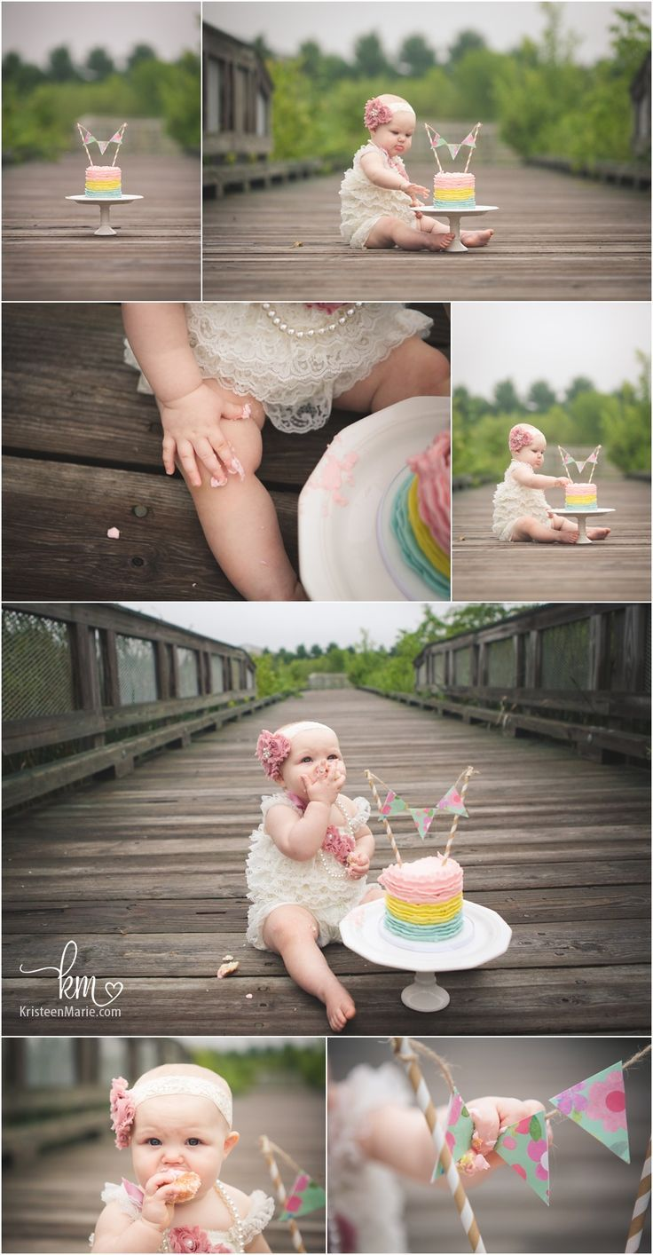 adorable cake smash set-up - first birthday photography                                                                                                                                                                                 More