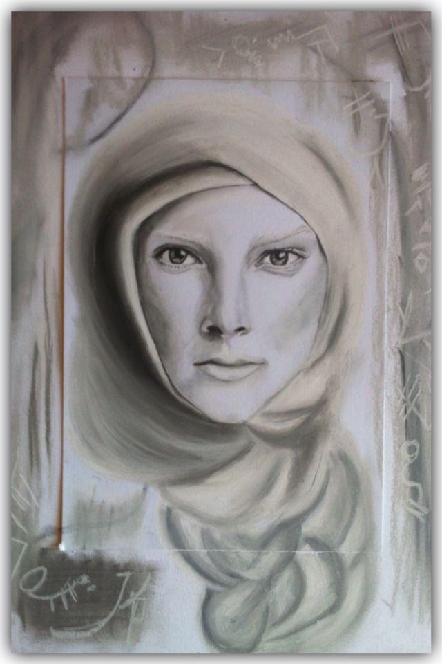 """Woman"" Portrait-Graphite & Charcoal on paper"