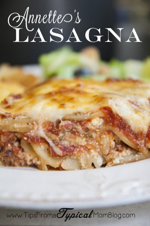 Annette's Authentic Italian Lasagna Recipe. The sauce is slow cooked in the crock pot for a most flavorful lasagna!