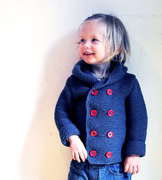 Kinderdufflecoat stricken #DIY #stricken #strickenfürkinder