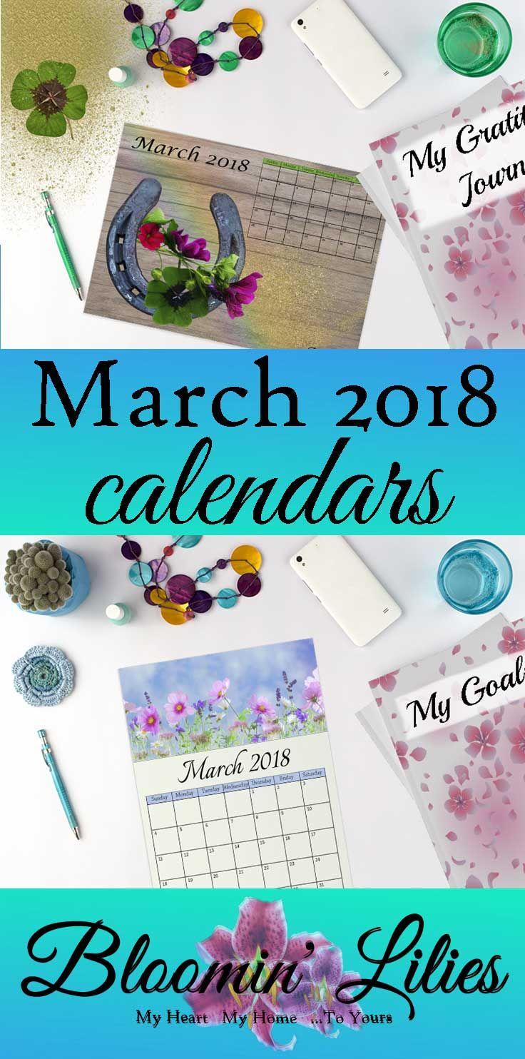 2018 Calendars For March #marchcalendars #calendars #freeprintables