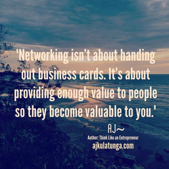 Most people network by handing out business cards, but this is an incredibly ineffective way of networking. Click the pic to find out the secret to great networking.  #businessmotivation #businessquotes #entrepreneurquotes #networking #success