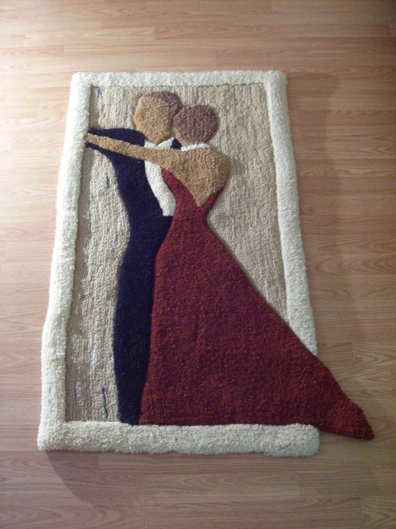 Elegant Waltz Dance Wool Custom Tufted Rug by KovricRugs on Etsy