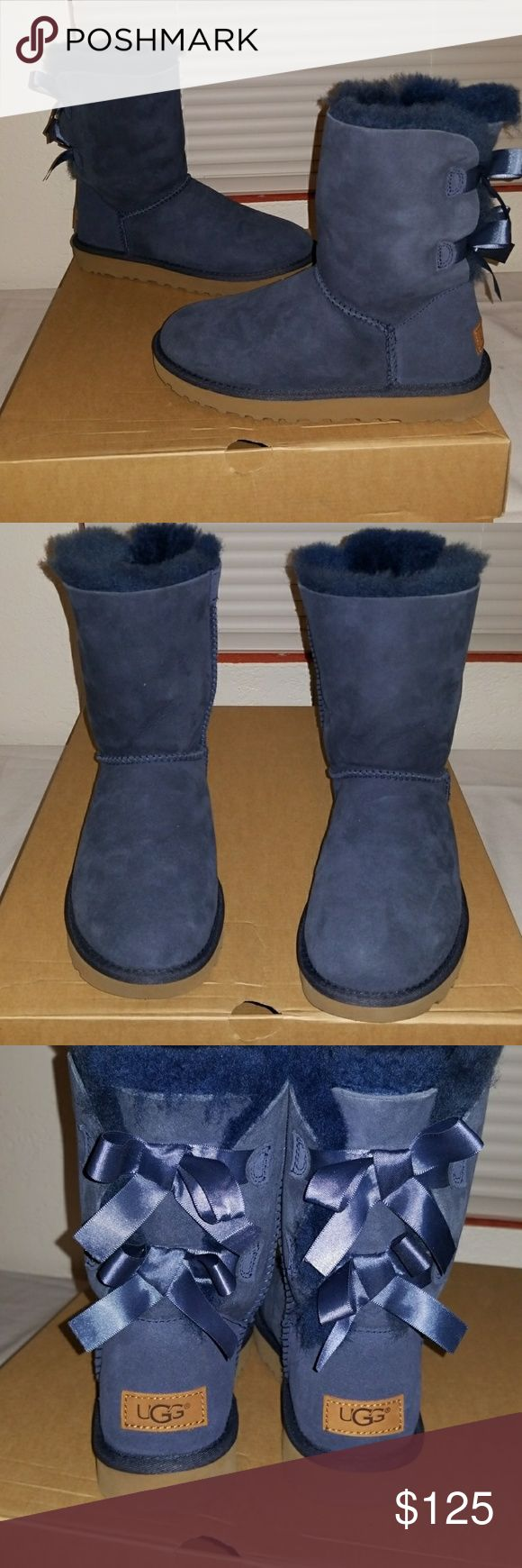 Water resistant Ugg boots model w bailey bow II color navy water resistant does not come with the original box UGG Shoes Winter & Rain Boots