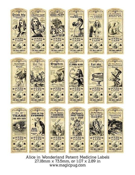 Free Collage Sheets for Pendants | ... patent medicine or potion label bottle digital collage sheet wallpaper