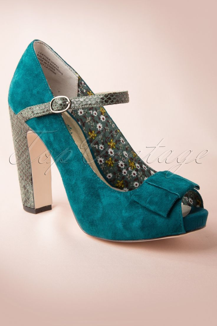 Seychelles - 60s Fifth Weel Mary Jane Pumps in Teal