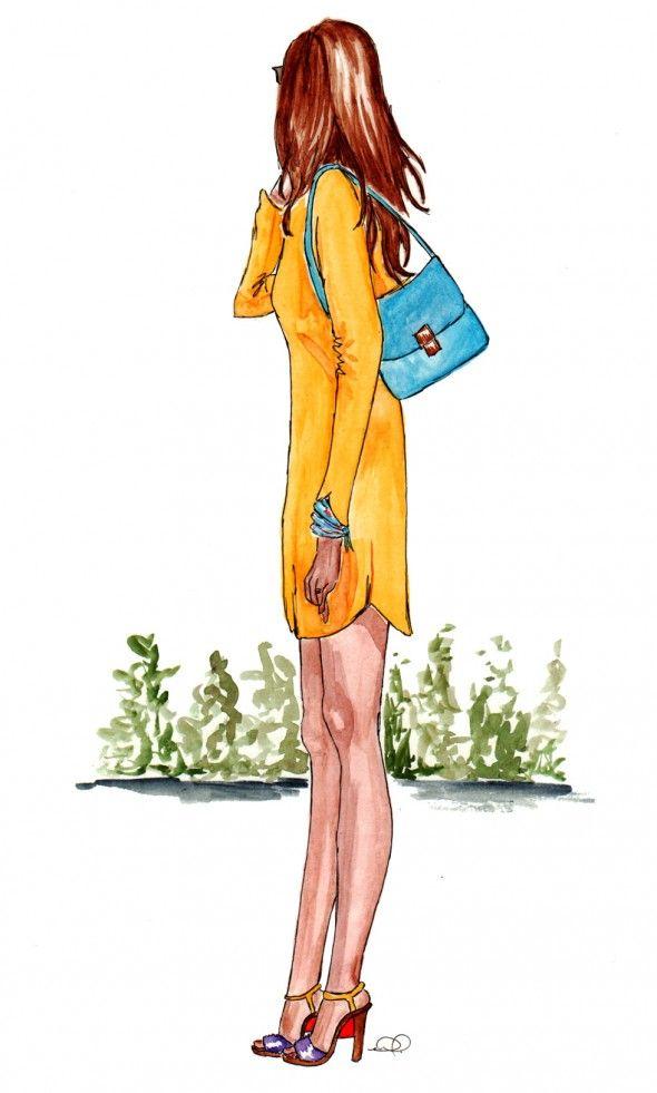 fashion illustration by Stephanie Fowler on Streetlight blog