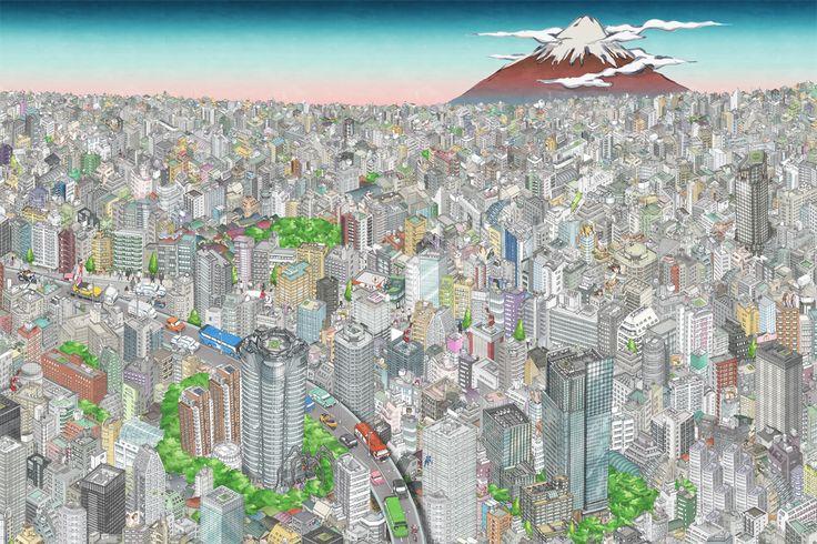 The TOKYO SKYTREE mural Roppongi 1 /東京スカイツリーの壁画 六本木 1