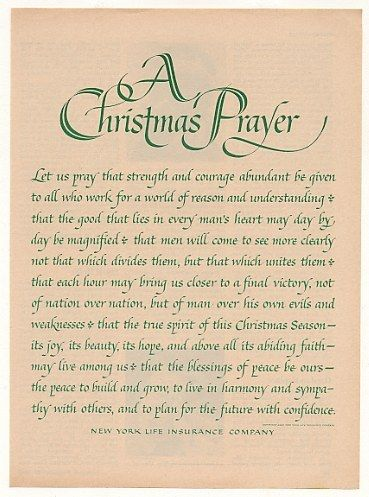1963 New York Life Insurance Christmas Prayer print ad: Christmas Time A Comin, Cards Sets, Christmas Fun, Christmas Prayer, Insurance Christmas, Christmas Bliss, Prayer Christmas, Prayer Cards, Best Quotes
