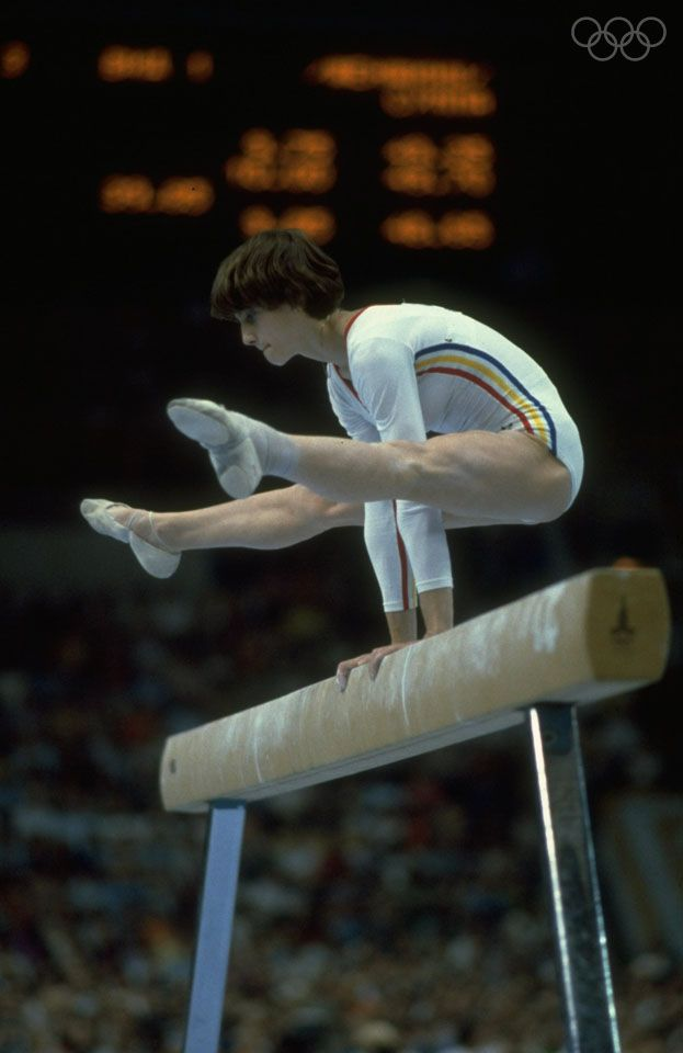 Nadia Comaneci of Romania at the 1980 Moscow games