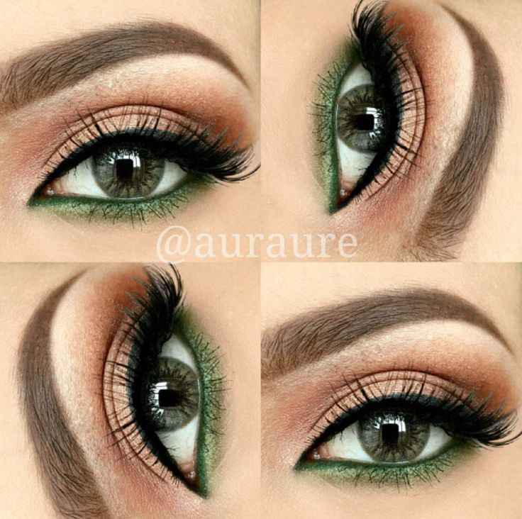 Eye makeup for #green eyes or green #contactlenses