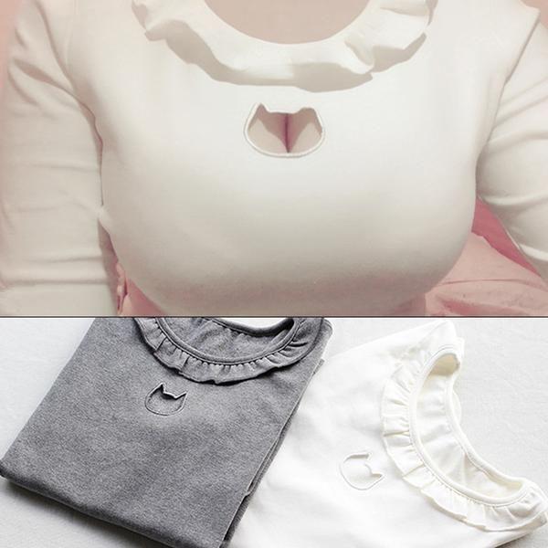 Kawaii Hollow Chest Kitty Sweater/Shirt – OhMyKawaiiShop.com
