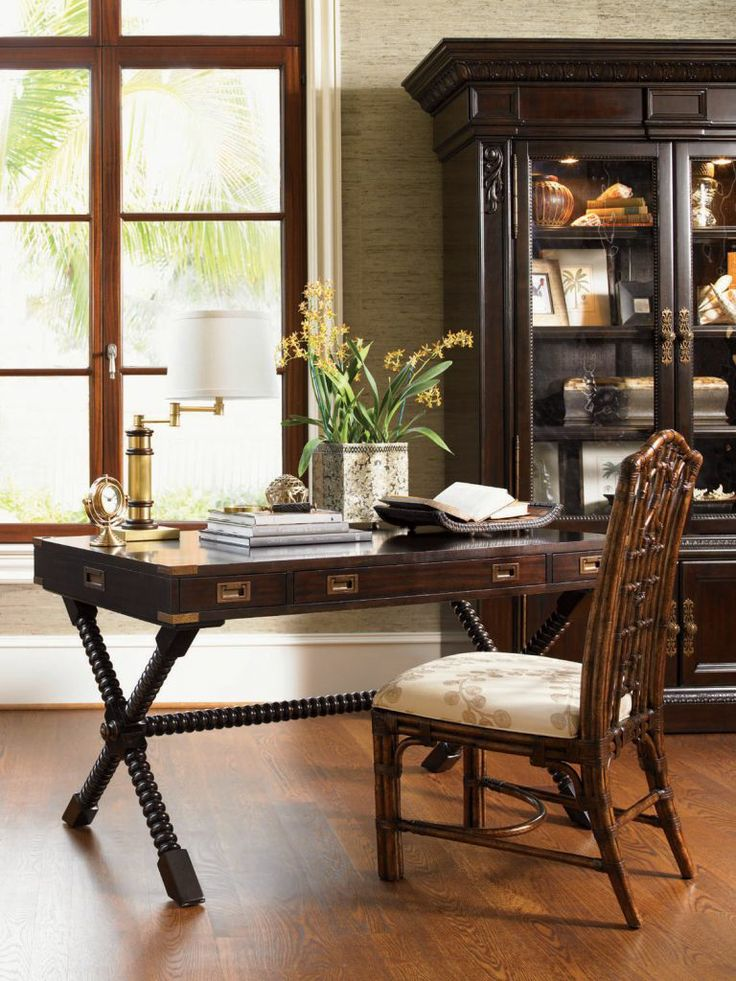 British Colonial See More Home Gallery Furniture Poets Crossing Writing Desk