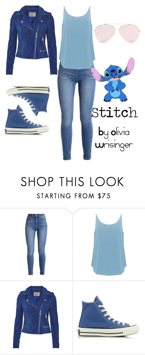 """Stitch - Disney Bound"" by narcissa-bellatrix-andromeda ❤ liked on Polyvore featuring BA&SH and Converse"