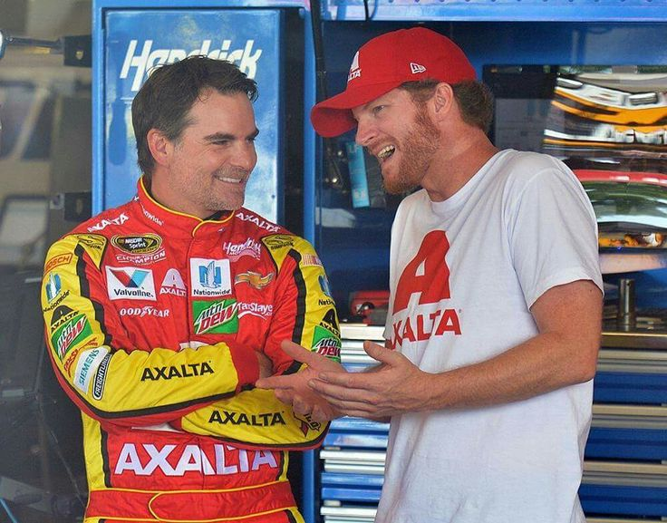 Jeff Gordon and Dale Jr