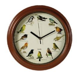 Relógio de Parede com Melodias de Pássaros